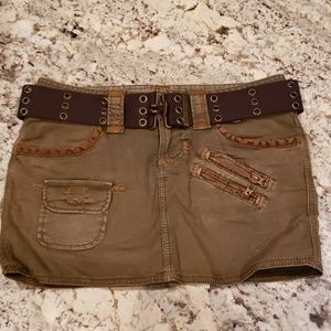 Camo Green and Brown Mini Skirt